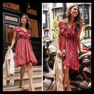 Anthropologie Rosalia Dress in Red